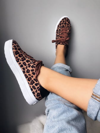 TÊNIS FEMININO ANIMAL PRINT FLAT DAY
